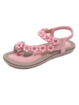 Ethnic Faux Diamond Beach Women Sandals