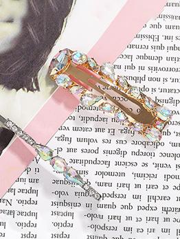 Fashion Rhinestone Patchwork Hair Clip Set