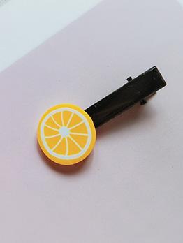 Fresh Style All-Match Lemon Hair Clip For Women