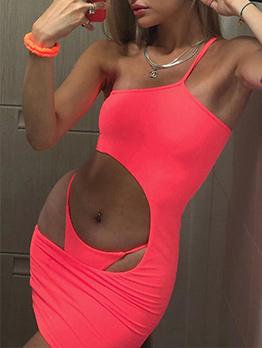 Sexy Solid Hollow Straps Bikini Sets