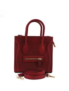 Modern Solid Zipper Design Ladies Handbags