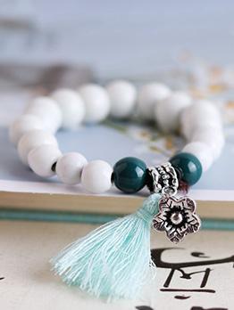 Beautiful Colored Ceramic Glaze Bead Bracelet