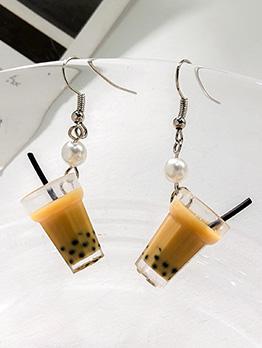 Cute Bubble Tea Earrings For Women