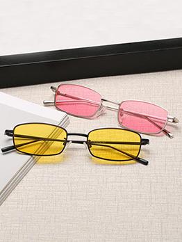Vintage Metal Frame Colored Lens Unisex Sunglasses
