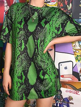 Summer Snake Printed Short Sleeve t-Shirt