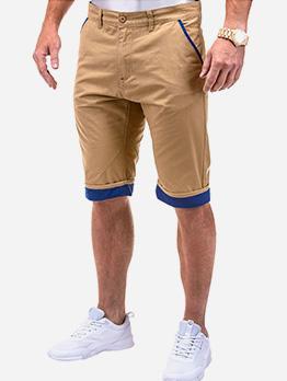 Casual Contrast Color Short Cargo Pants For Men
