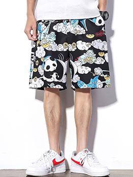National Style Summer Printed Beach Mens Shorts
