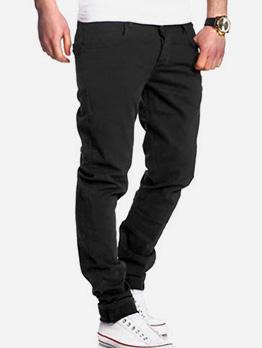 Fashion Solid Male Slim Fit Pants