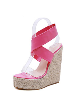 Euro Ankle Strap Super High Wedge Sandals
