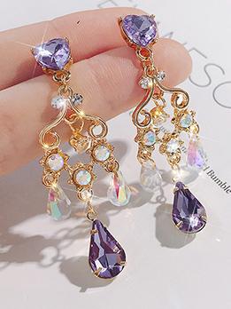 Vintage Style Crystal Tassels Ladies Earrings