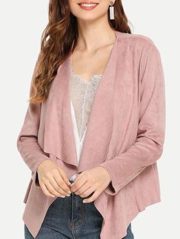 Minimalist Solid Long Sleeve Coat For Women