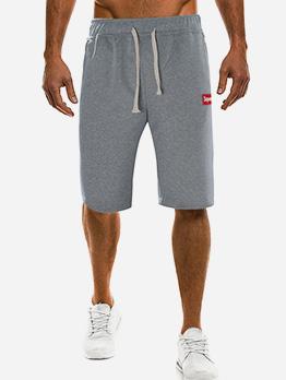 Summer Drawstring Half Length Pants For Men
