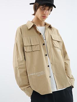 Fashion Japanese Pocket Long Sleeve Shirts For Men
