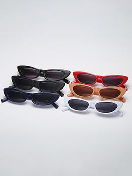 Vintage PC Frame Colored Lens Women Sunglasses