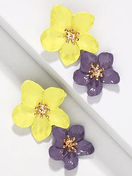 Two Flowers Earrings For Women