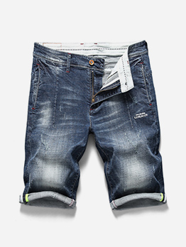Simple Design Knee Length Mens Casual Shorts