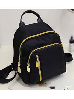 Korean Style Nylon Zipper Design Waterproof Backpack