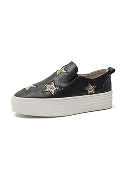 Casual Star Decor Platform Sneakers For Women