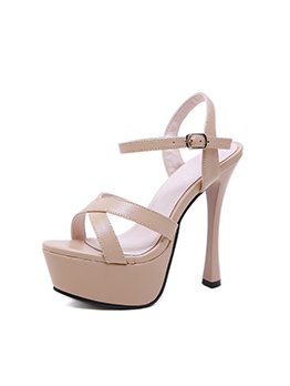 Easy Matching Ankle Strap Platform High Heels