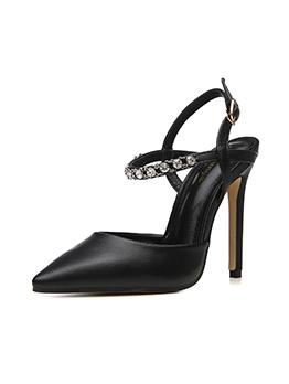 Diamond Decor Slingback High Heels For Women