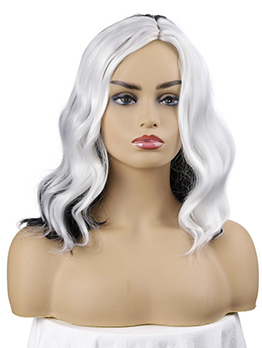Middle Parting Contrast Color Natural Wave Synthetic Wigs