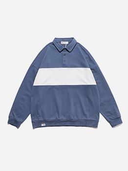 Retro Contrast Color Long Sleeve Mens Designer Hoodies