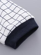Fashion Long Sleeve Plaid Baby Sleepsuits