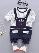 Stylish Plaid Patchwork Newborn Baby Clothes