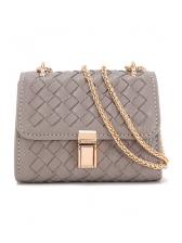 Trendy Weaven Plaid Chain Shoulder Bag