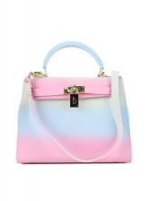 Contrast Color Fashion PVC Crossbody Bags