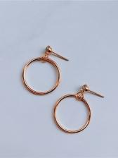 Simple Design Big Circle Fashion Earrings