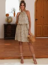 Fashion Smart Waist Printed Sleeveless Dress