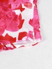 Beach Printed Long Sleeve Top With Short Pants
