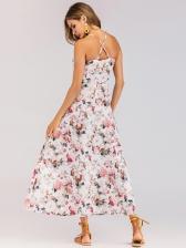 Summer Spaghetti Strap Beach Floral Dress
