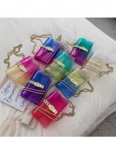Rainbow Gradient Color PVC Transparent Chain Bag