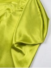 Deep v Ruched Long Sleeve Women Dresses