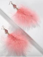 Cute Style Patchwork Fluff Design Women Earrings