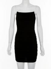 Sexy Transparent Shoulder Straps Bodycon Dresses