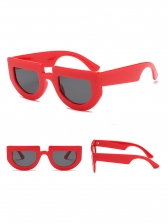 Chic Contrast Color Large Frame Unisex Sunglasses