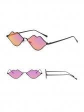 Lip Shape Frame Colored Lens Women Sunglasses