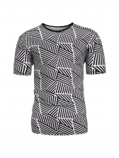 Summer Crew Neck Printed Fitted T-shirt For Men