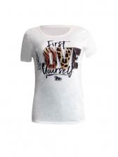 Euro Fashion Printed Short Sleeve T-shirt For Women