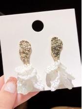 Easy Matching Shell Flower Ladies Earrings