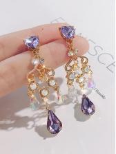 Vintage Style Gemstone Tassels Ladies Earrings