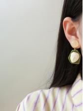 Fashion Cartoon Face Pattern Ladies Earrings