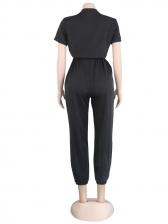 Hot Sale Contrast Color Cargo Jumpsuit For Women