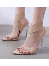 Euro Sexy Pointed Toe Clear Stiletto Heels
