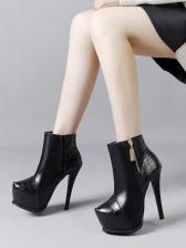 Euro Fashion Platform Super High Heel Women Ankle Boot