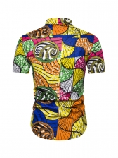 African Ethnic Style Fitted Shirt For Men