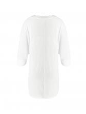 Euro V Neck Lesbian White T-shirt For Women